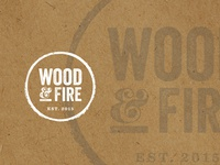 Wood and Fire Logo Concept Two