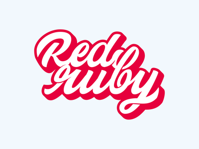 Red Ruby 2d type sticker letters hand lettering lettering typography ruby red graphic design logotype logo