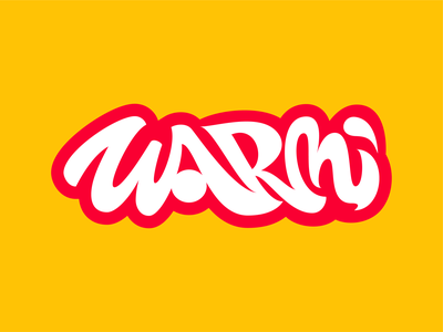Warm typography hand lettering yellow lettering warm letters sticker type logotype graphic design logo 2d