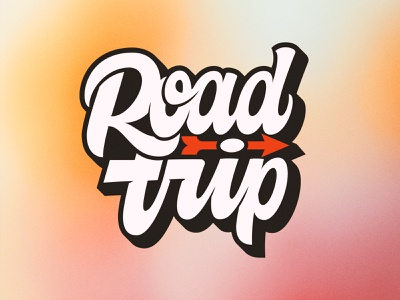 Road Trip clean type custom type graphic design trip road letters sticker handlettering lettering typography logotype sign