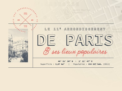 Paris - 11th arrondissement | Map design [1]