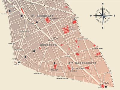 Paris - 11th arrondissement | Map design [2]