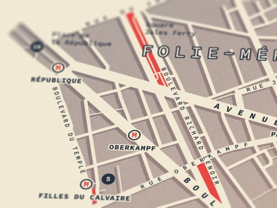 Paris - 11th arrondissement | Map design [4] poster vector design paris minimal map map design illustration cartography