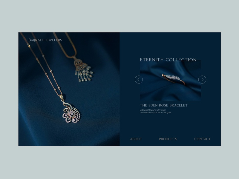 Jewelery brand- landing page photography jewelery shop typography uiux uxdesign userinterface user experience visual design minimal uidesign animation webdesign website design adobe communication design communication dailyui branding illustration