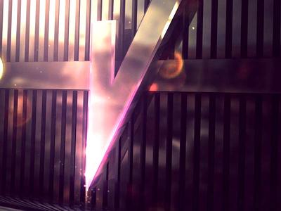 V from Vinylfy purple design logo marca brand render cinema 4d 3d graphic design branding vinyl