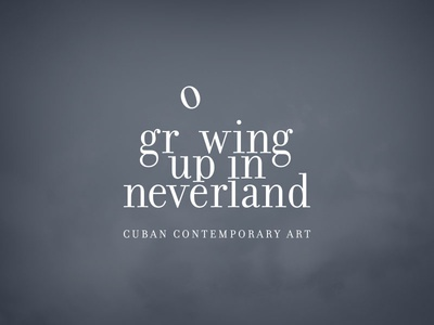 Growing Up In Neverland Ident art expo poster cloud fly fantasy neverland logo type font