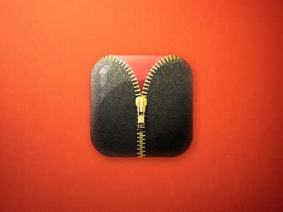 Zipplock Icon red carpet leather android game play glam zipp icon ui