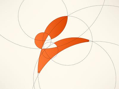 Rabbit Logo Guides golden ratio guides jump fast orange logo branding brand target arrow bunny rabbit