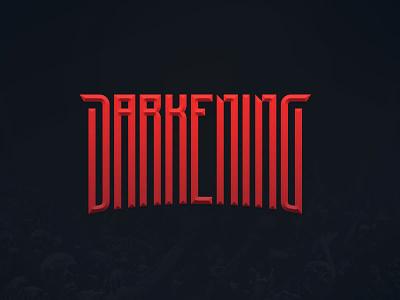 Darkening branding ident band logo rock dark darkening metal