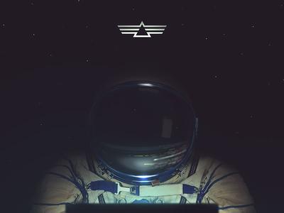 Space Games II design website ui code reflection helmet suit space cosmonauta astronaut