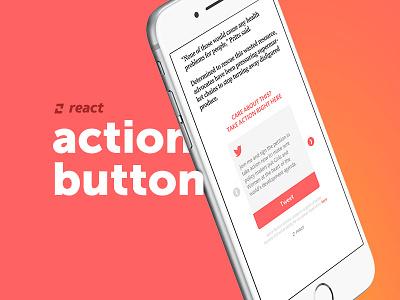 Action Button press news react design ux branding brand ui action