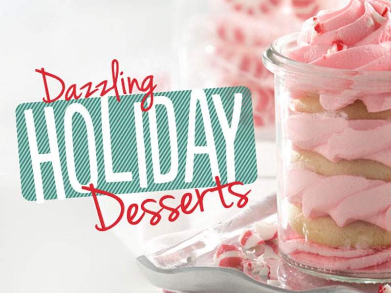 Holiday Desserts typography holiday food