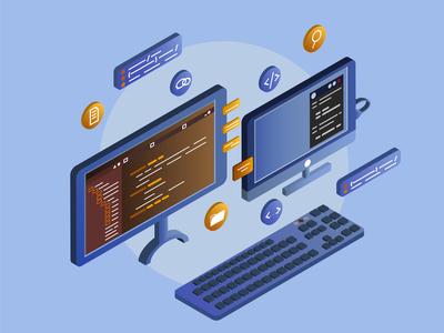 Isometric IT  programmer