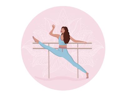 Yoga girl namaste