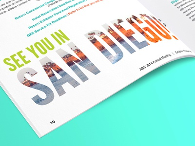 Let's Meet in San Diego! cali california typography san diego beach sunny conference meeting