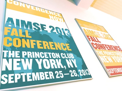 AIMSE Fall Posters meeting conference nyc city new york typography new york city poster print fonts fall