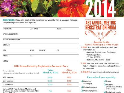ABS Annual Meeting Registration Form san diego cali california print annual meeting form