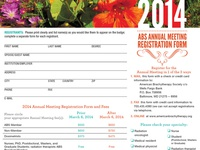 ABS Annual Meeting Registration Form