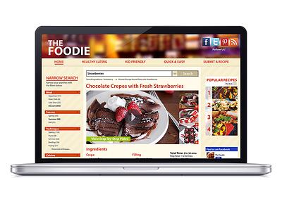 The Foodie ui user interface web design food uiux