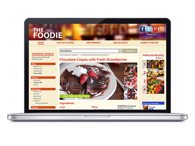 The Foodie ui user interface web design food uiux