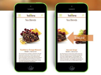 Teavana App mobile app ui uiux design iphone teavana user interface