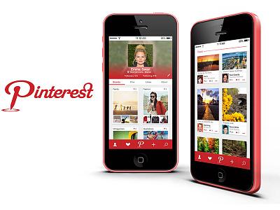 Pinterest mobile ui uiux ui design iphone