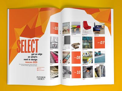 Interior Design NeoCon ad design magazine layout ad