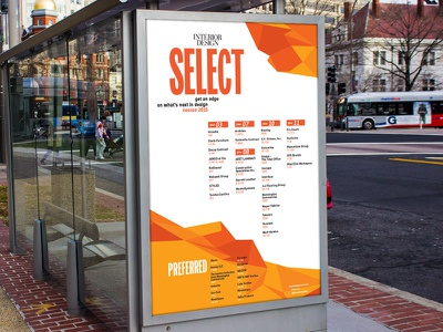 Bus sign design geometric angles graphics design poster sign