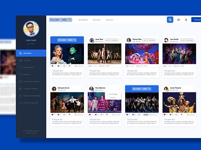 Broadway Connection Web App web app buttons ui  ux design ui  ux