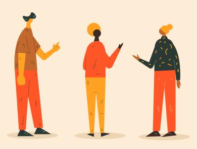 Talking adobe illustrator people design vector illustration