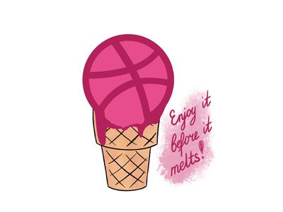 Dribble ice cream