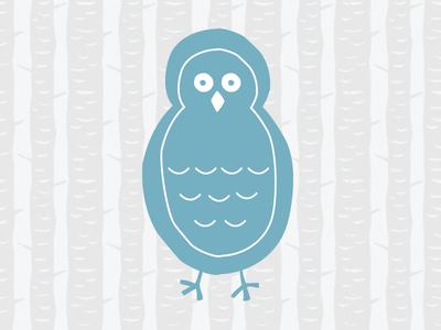 Owl Illustration owl trees kids illustration