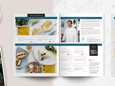 United On Board menu airline print magazine catalog menu