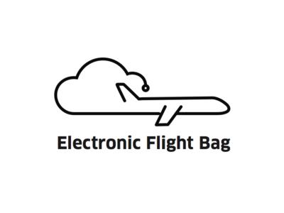 Electronic Flight Bag logo pilot flight cloud plane logo