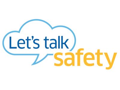 Let's Talk Safety logo safety talk comment bubble cloud art direction logo airlines