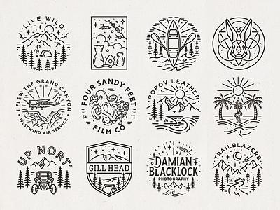 Recent Logos branding monoline linework illustration logo
