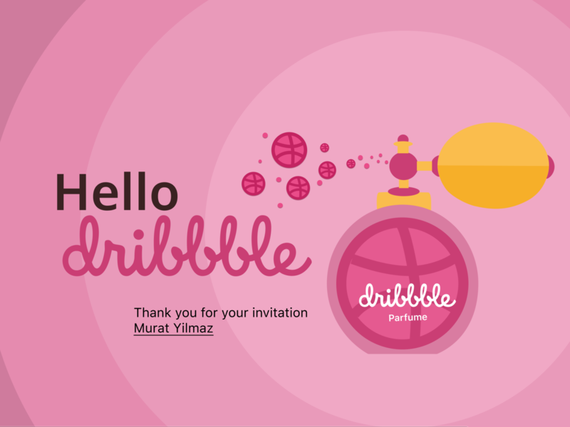 Hello Dribbble! illustration vector invitation hello dribbble hello dribble