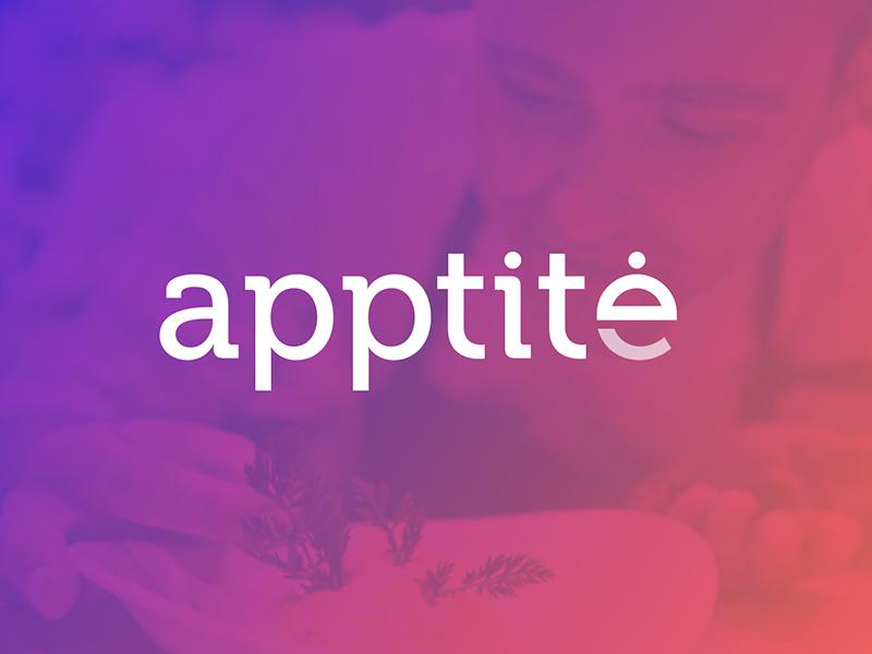 Apptite minimal ui design gradient purple color design ui app