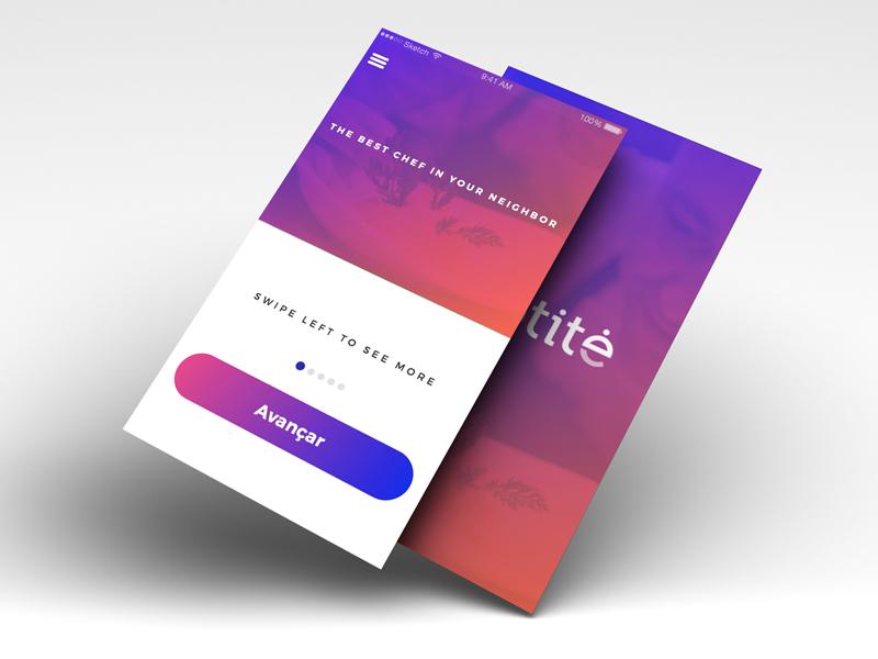 UI App Design minimal ui design gradient purple color design ui app
