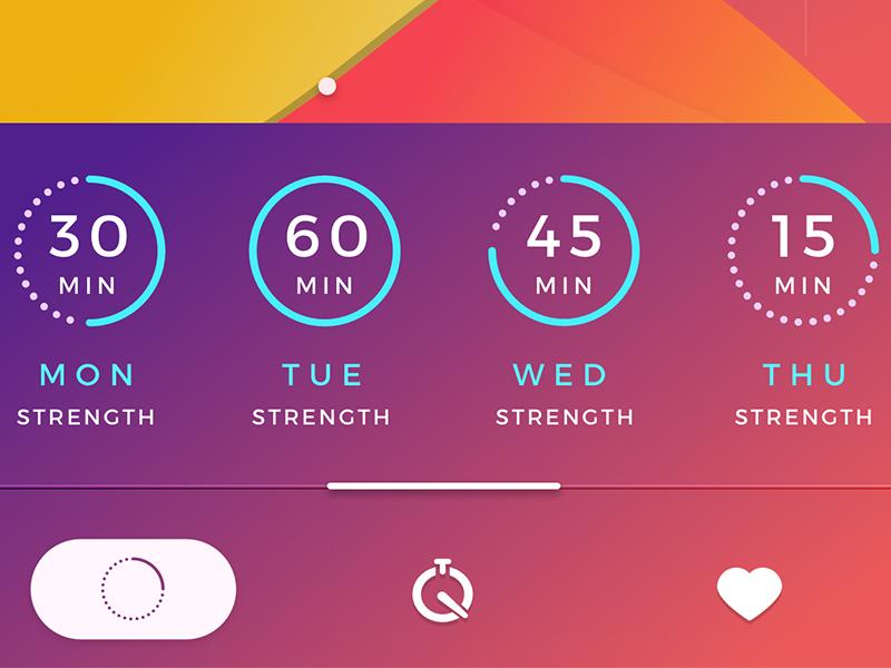QuickFix gradient color purple colorfull flat design ux ui ios app