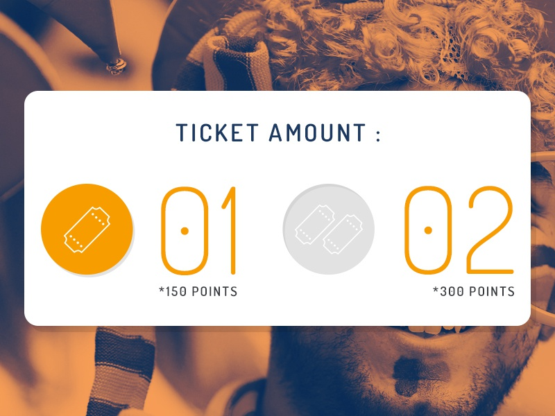 Ticket Selection radio button [UI] cards orange ticket gui conceptual radio button design ux ui