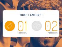 Ticket Selection radio button [UI]