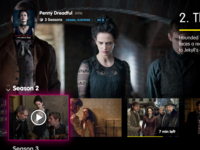 TV UI: Season Page
