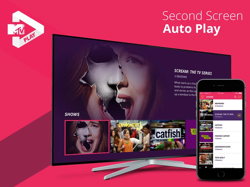 AutoPlay with Second Screen amazonfire appletv tv design ui ux second screen mtvplay mtv