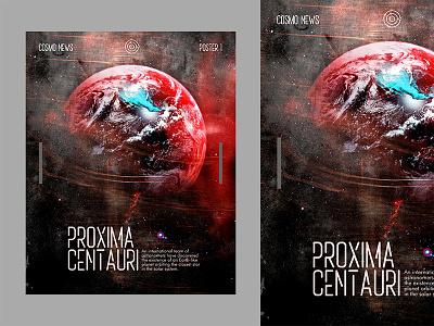 Proxima Centauri modern editorial concept poster art portfolio responsive practice 365 daily challenge 365 days poster swiss poster typography ui book cover cover art typographic poster typography design type artwork vector design