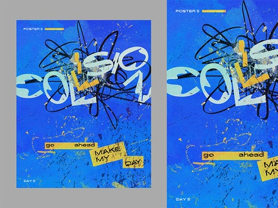 Collision poster series creative logo collision concept portfolio book cover creative typography design typography ux ui vector editorial poster design cover art background illustration artwork
