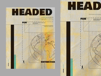 Headed for extinction analog drawing poster a day typography design book cover editorial poster series typography artwork design poster branding ui vector composition manipulation illustration background
