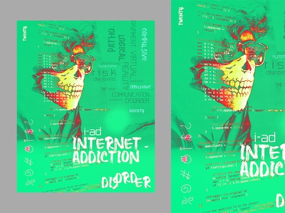 Internet Addiction poster branding composition background artwork designer editorial manipulation design cover art book cover typography typography art poster a day poster art poster design advertising photoshop