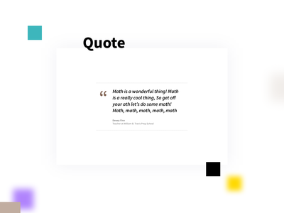 Quotation web design typography clean section webdesign uix ux testimonial quotation quote