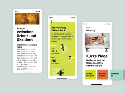 Science Magazine webdesign mobile adobexd